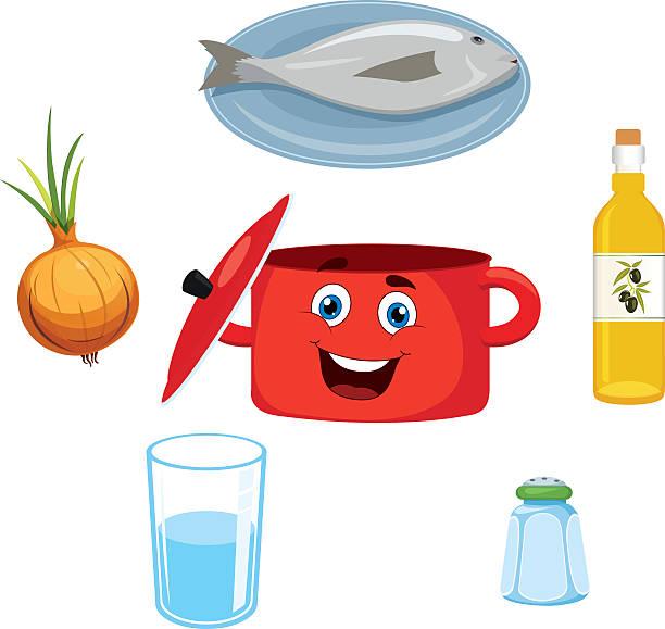 fisch-küche - fischglas stock-grafiken, -clipart, -cartoons und -symbole