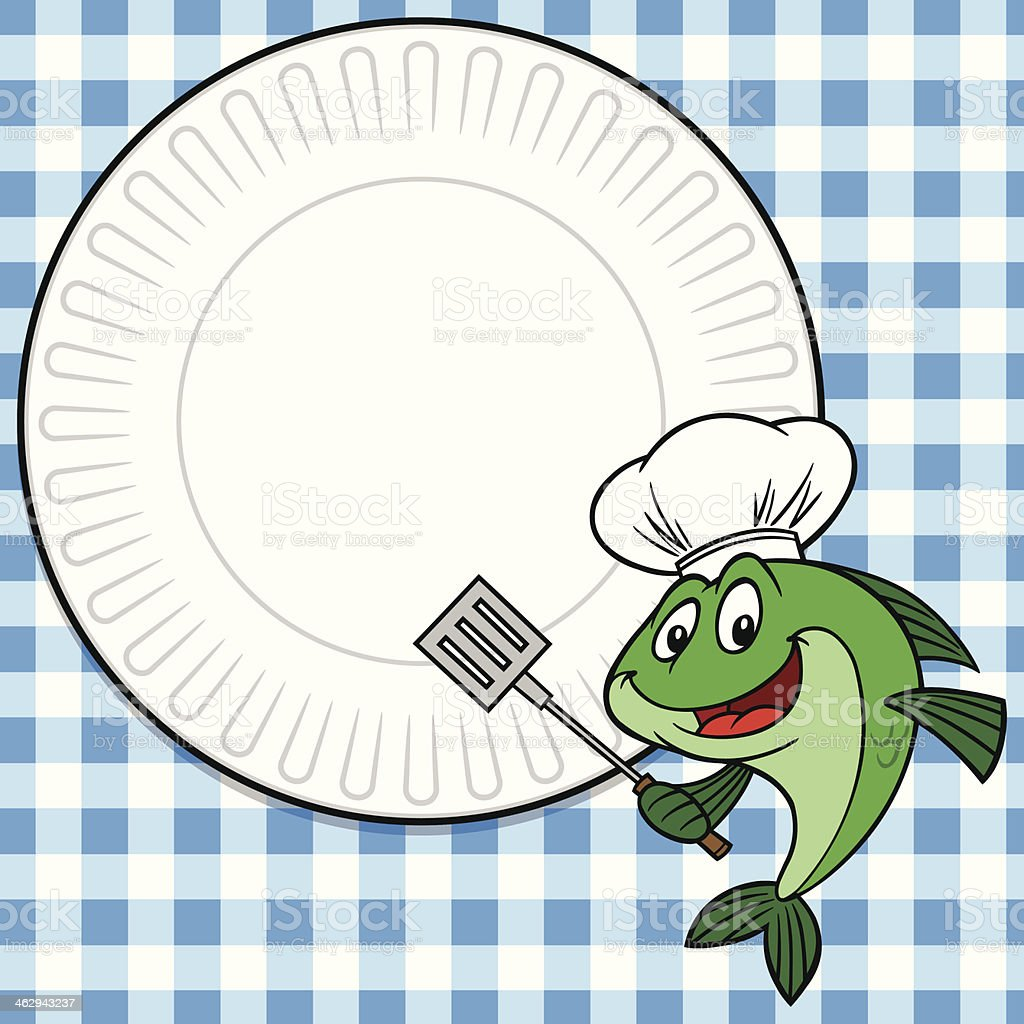 Fish Cookout Invitation vector art illustration