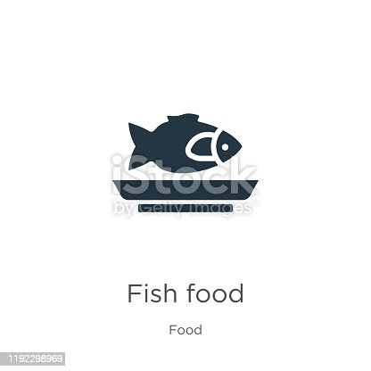 Fish food icon vector. Trendy flat fish food icon from food collection isolated on white background. Vector illustration can be used for web and mobile graphic design, logo, eps10