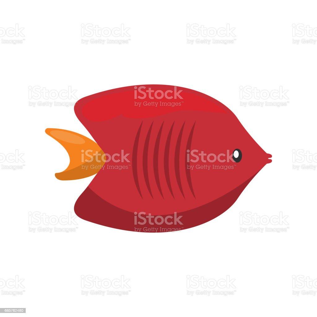 Fish Icon Sea Life Design Vector Graphic Stock Vector Art & More ...