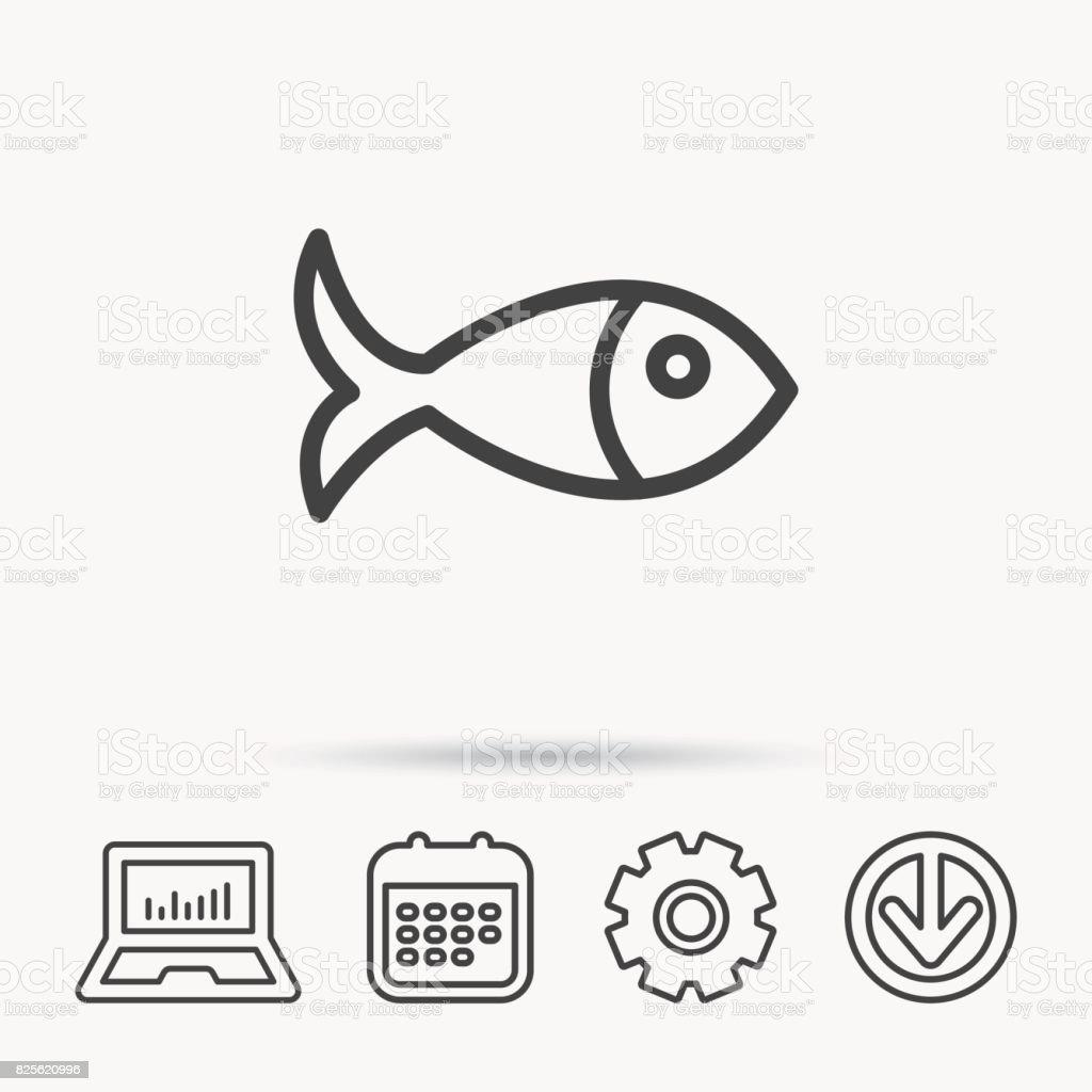 Fish icon seafood sign vegetarian food symbol stock vector art fish icon seafood sign vegetarian food symbol royalty free fish icon seafood nvjuhfo Images