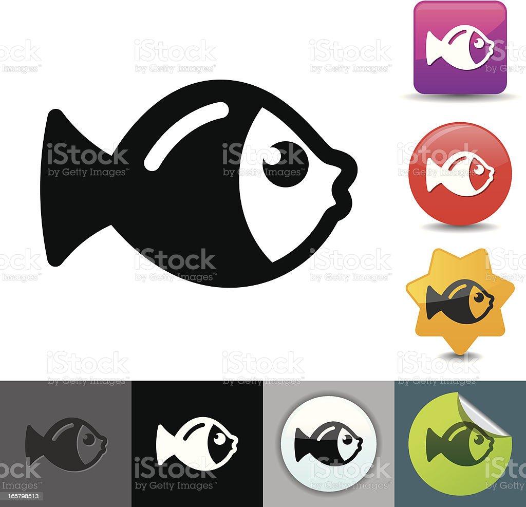 Fish icon | solicosi series royalty-free stock vector art