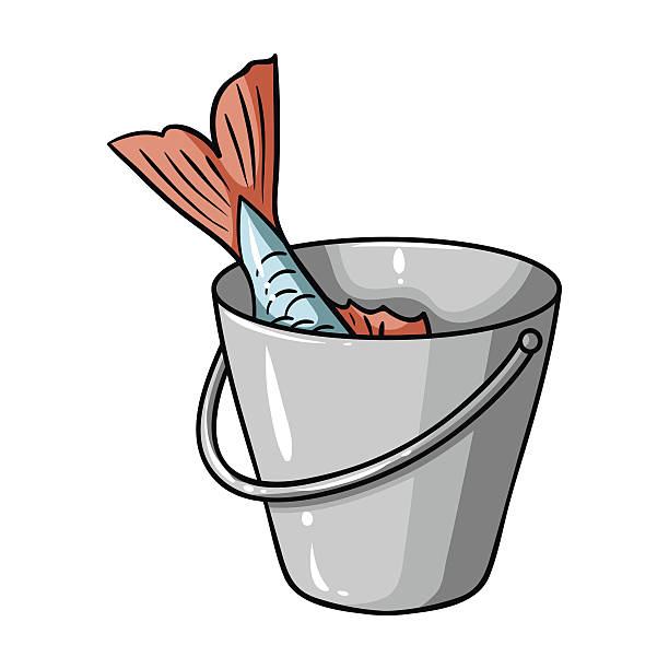Royalty free bucket clip art vector images for Bucket of fish