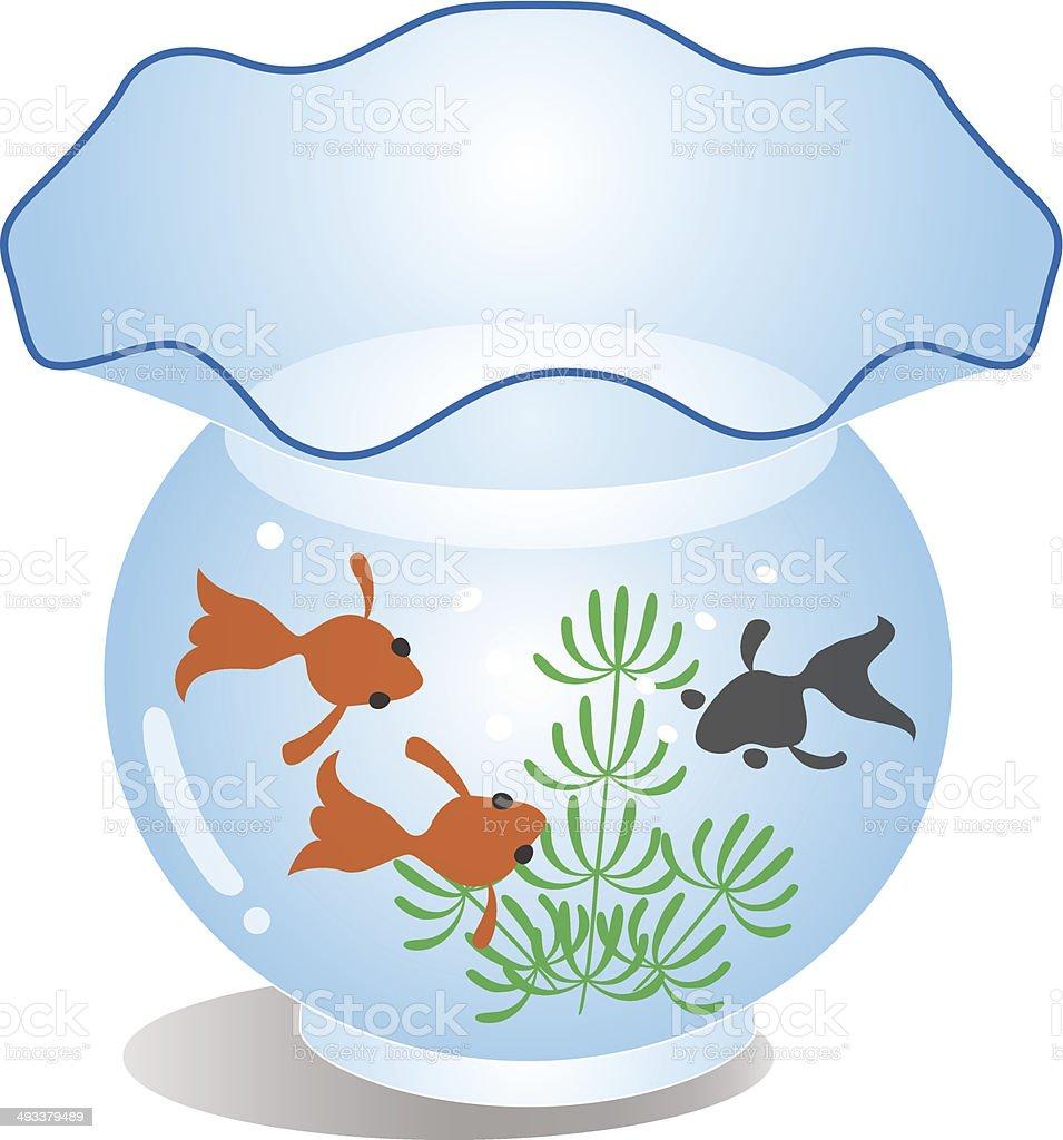 Fish in the fishtank vector art illustration