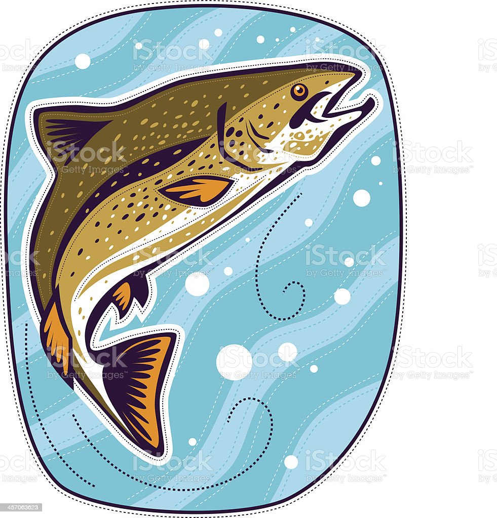Fish in water vector art illustration
