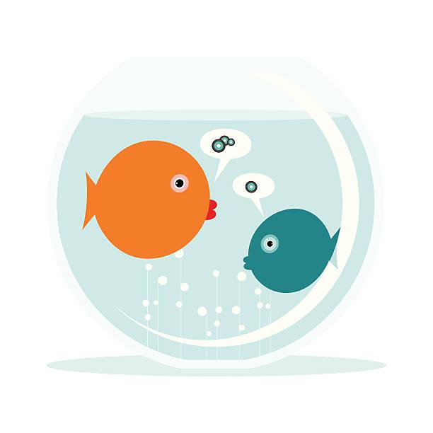 Fish language vector art illustration