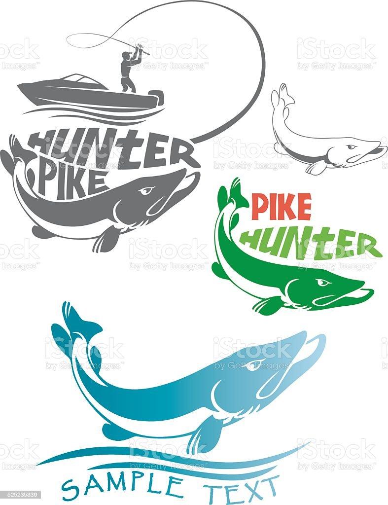 fish logo vector art illustration
