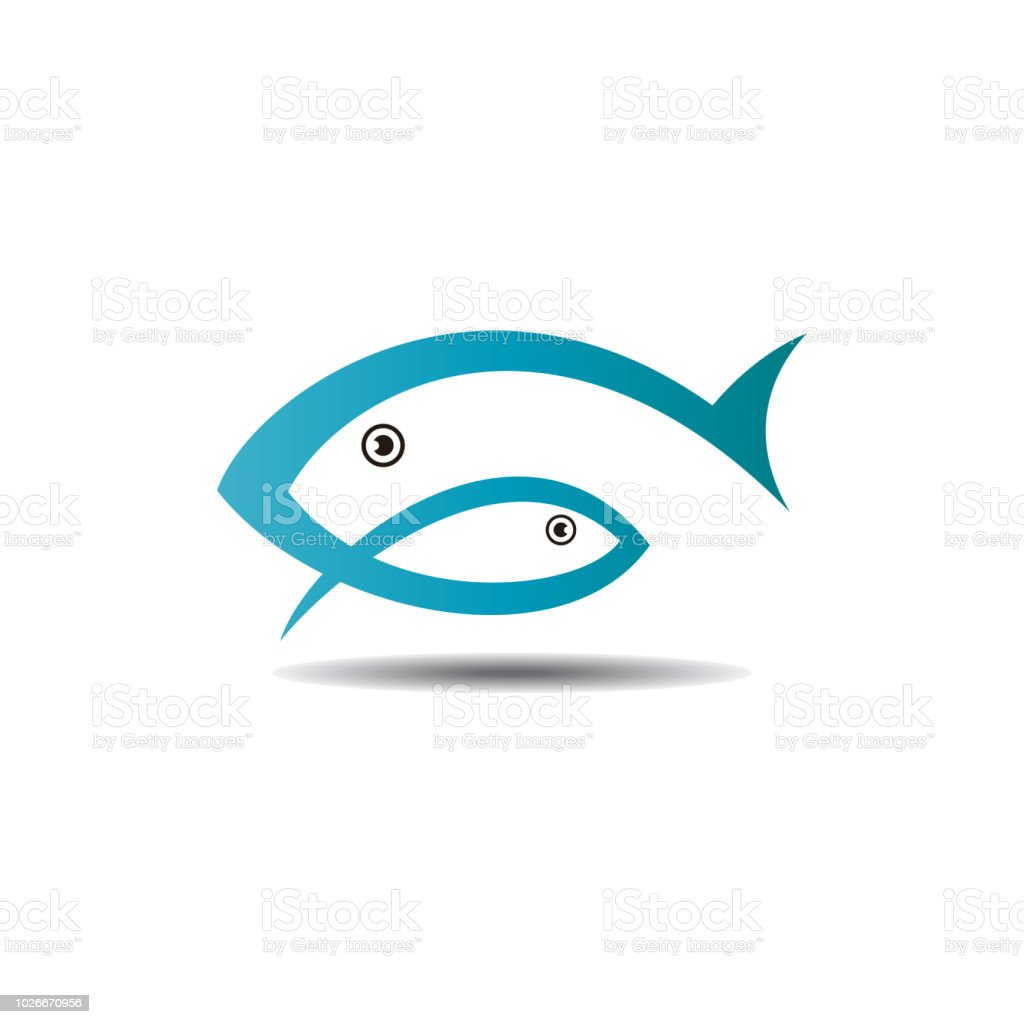 fish logo vector template ready for use stock illustration