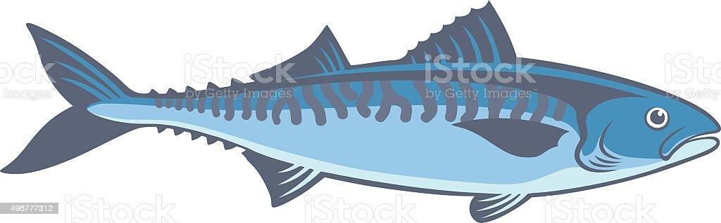 Pescado caballa - ilustración de arte vectorial