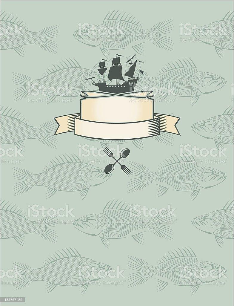 fish menu royalty-free stock vector art