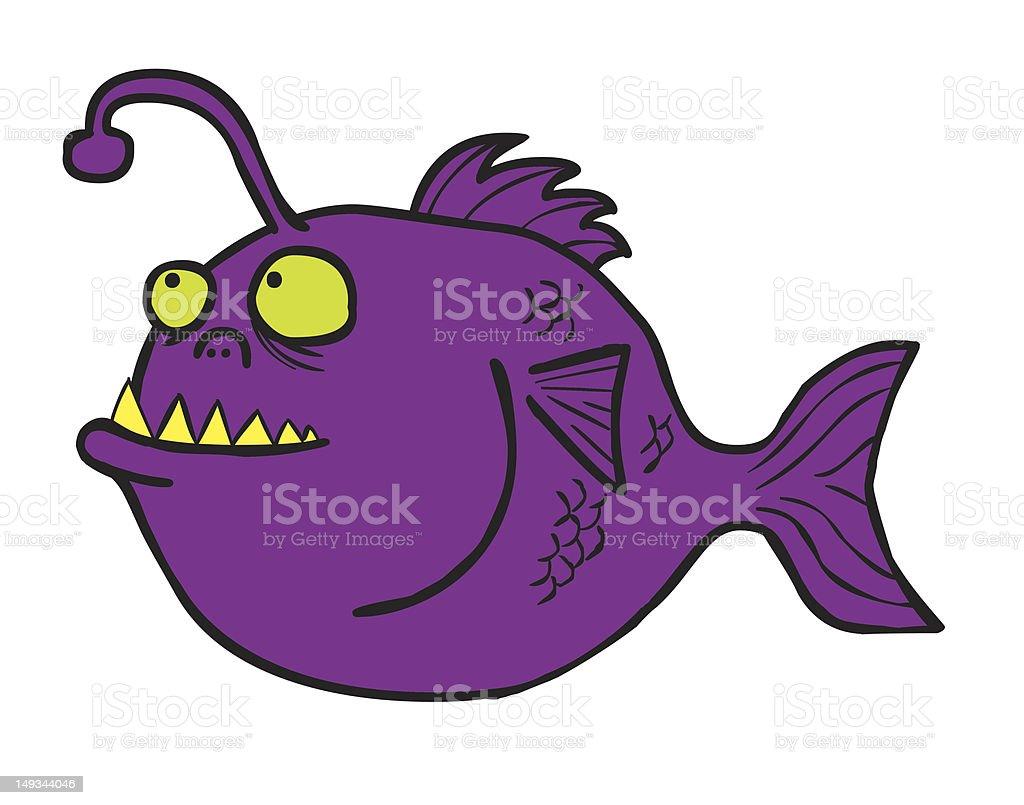 Fish Monster vector art illustration