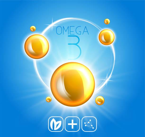 생선 기름 광고 템플릿, 오메가-3입니다. 오일 3 차원 그림을 삭제합니다. 현실적인 그림 비타민 자연, 컨셉 디자인입니다. - vitamin d stock illustrations