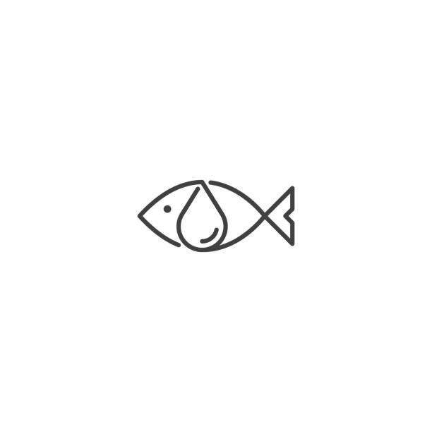 bildbanksillustrationer, clip art samt tecknat material och ikoner med fisk olja vektor ikon på vit bakgrund - omega 3