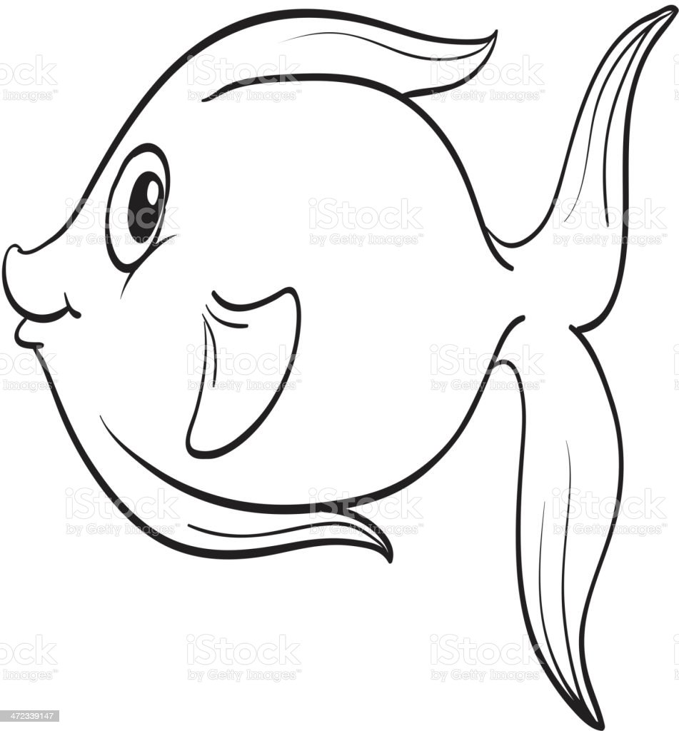 Fish outline royalty-free stock vector art
