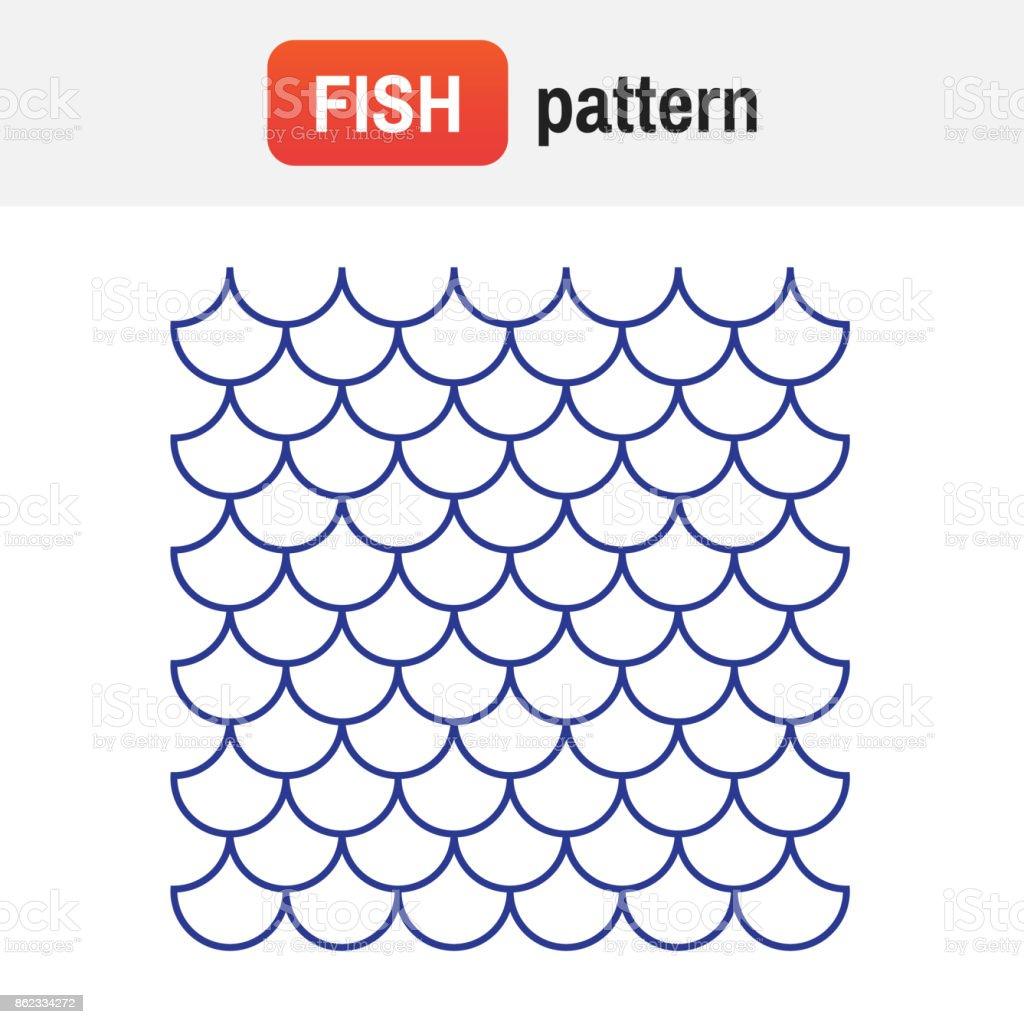 Fish pattern vector. Fish background vector texture vector art illustration