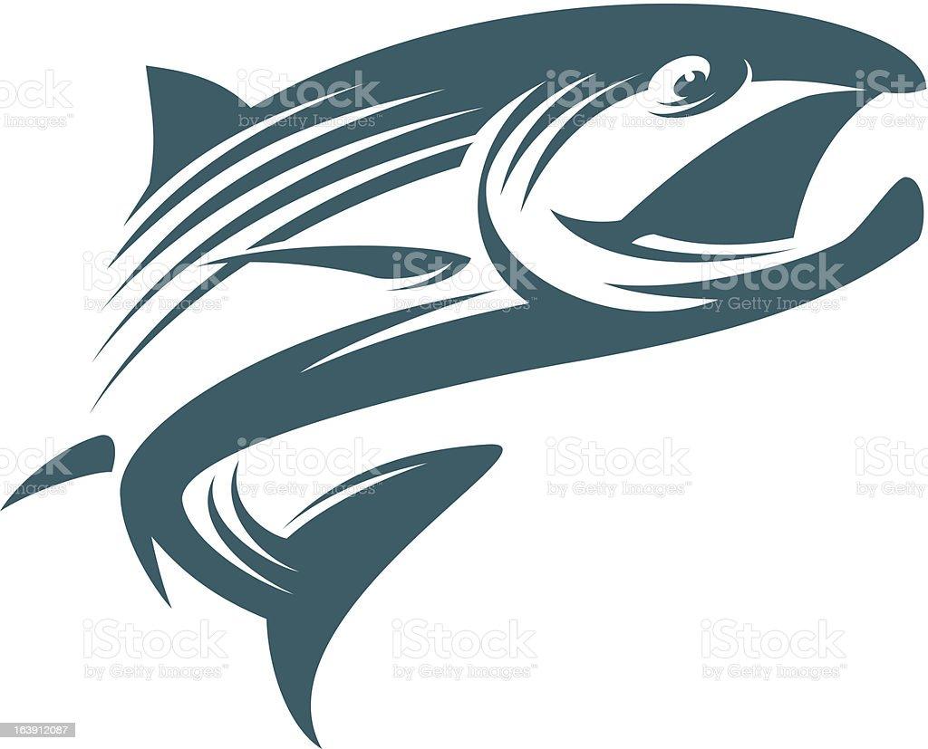 Fish Salmon vector art illustration