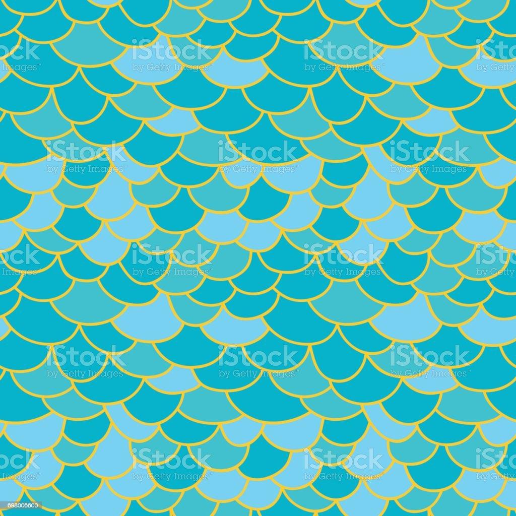 Fish scale background vector art illustration