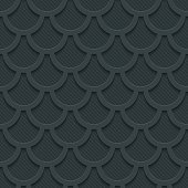 Fish scale dark seamless vector background with 3D effect. Full editable vector EPS10 tileable wallpaper.