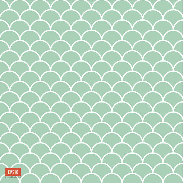 fish scale pattern - reptiles stock illustrations