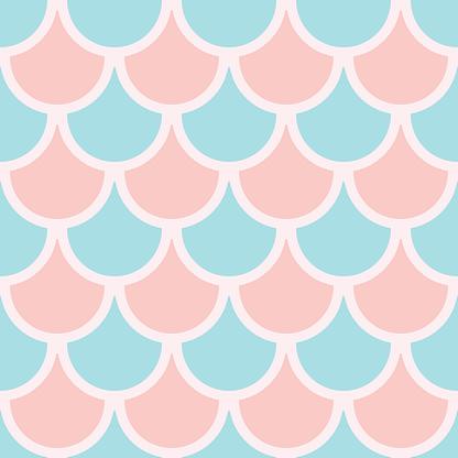 Fish scale seamless repeat pattern design,
