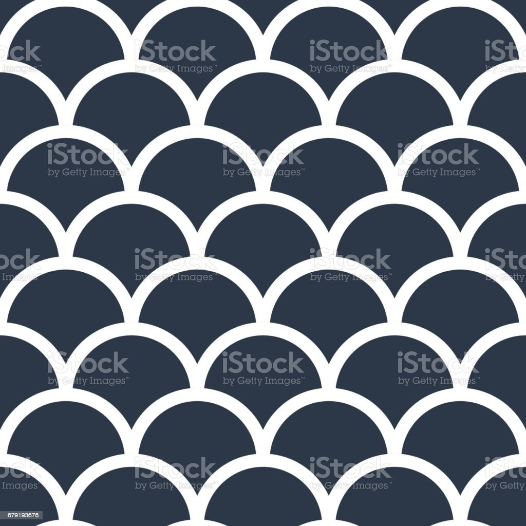 Fish scales japanase seamless pattern vector fish scales japanase seamless pattern vector - arte vetorial de stock e mais imagens de abstrato royalty-free
