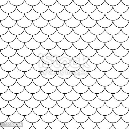 Fish scales seamless pattern. Abstract Fish background. Vector illustration EPS10.