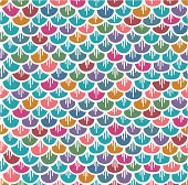 Fish Scales Seamless Pattern Colorful Cartoon