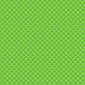 Lime green and white fish scales or scallops design