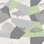 Vector seamless repeat. All colors are layered and grouped separately. Easily editable.