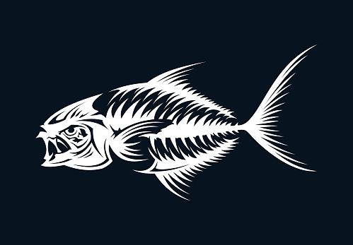Fish skeleton silhouette