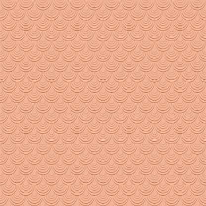 Fish skin texture. Monochrome brown seamless pattern. Reptile, dragon skin texture. Geometric background for fabric, swimwear or wallpaper.