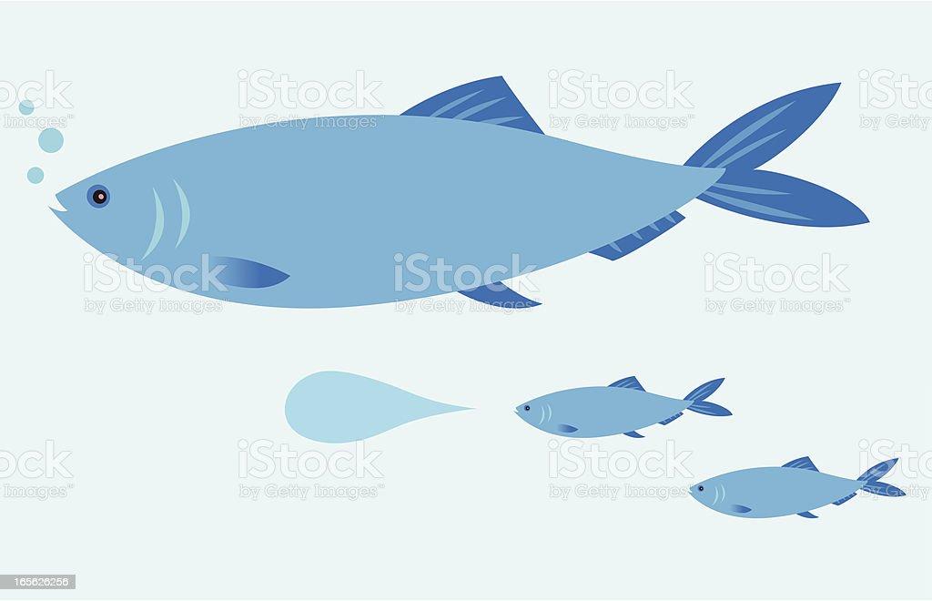 Fish Speak vector art illustration