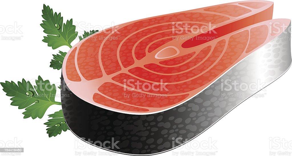 Fish steak royalty-free fish steak stock vector art & more images of animal scale