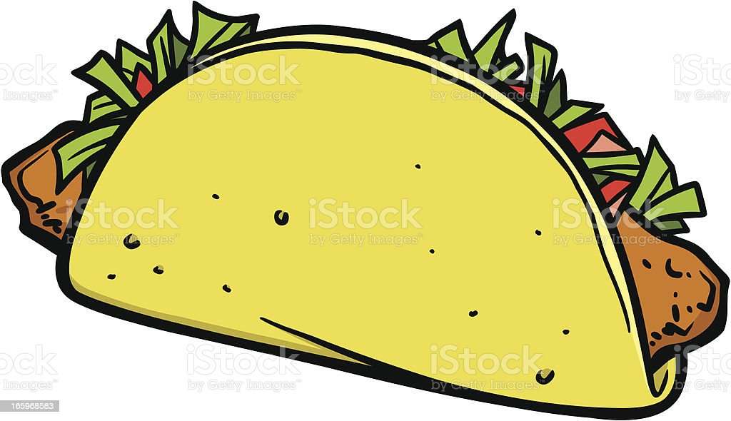 Fish Taco Stock Vector Art & More Images of Cartoon 165968583 | iStock