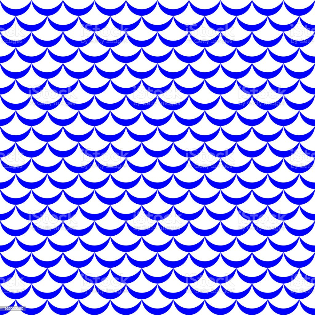 Fish tail or mermaid scale vector pattern. Regular seamless background. Fish scale pattern. vector art illustration