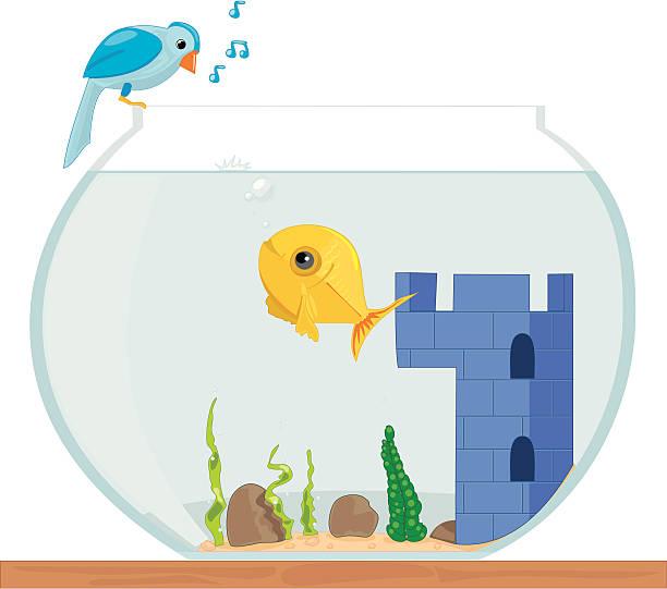 fish talking to bird (twitter) - twitter 幅插畫檔、美工圖案、卡通及圖標