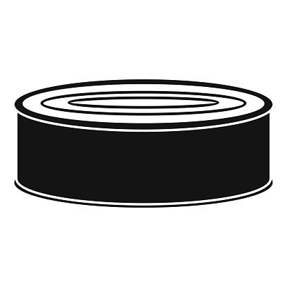 Fish tomato tin can icon, simple style