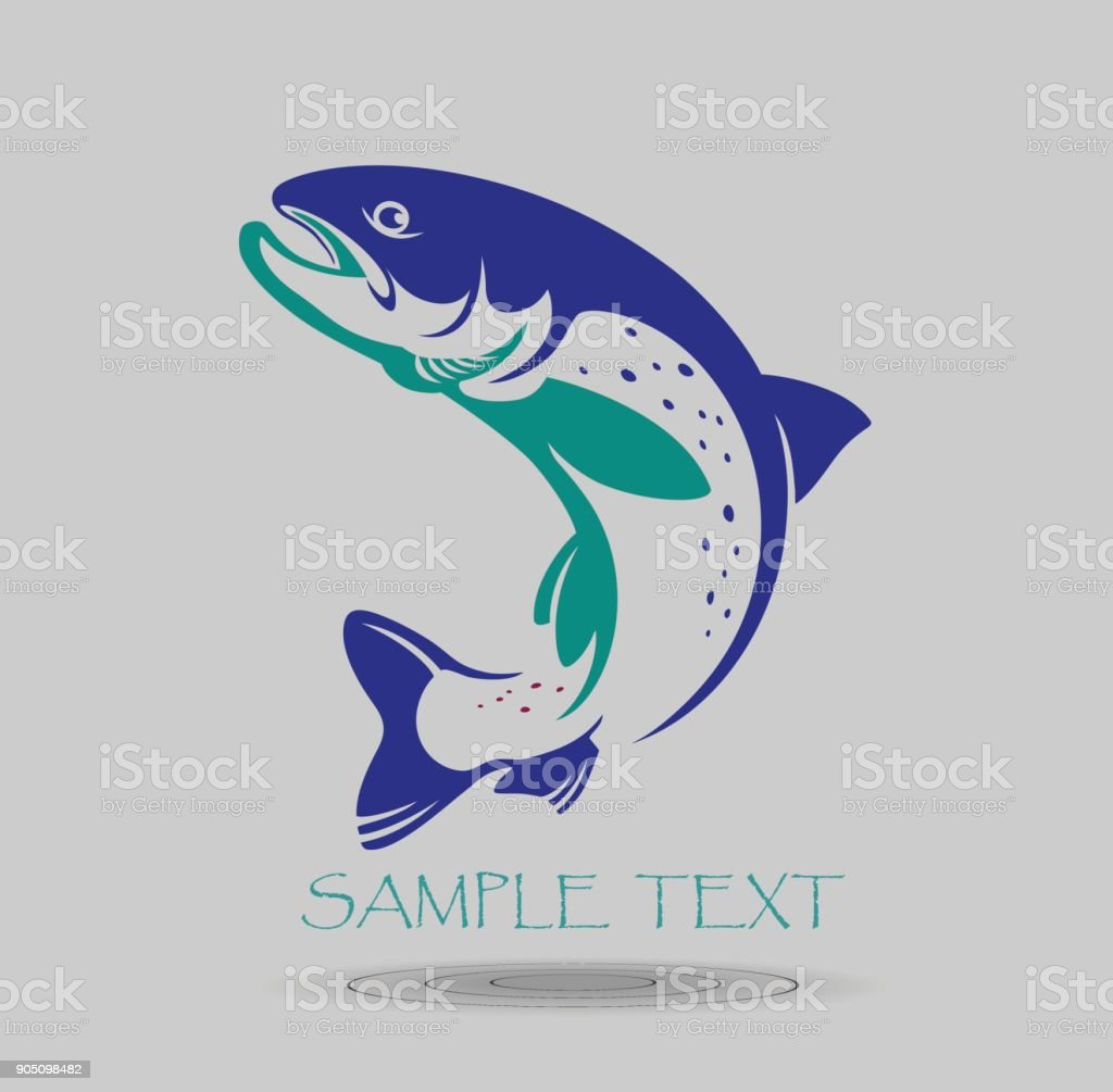 fish trout vector art illustration
