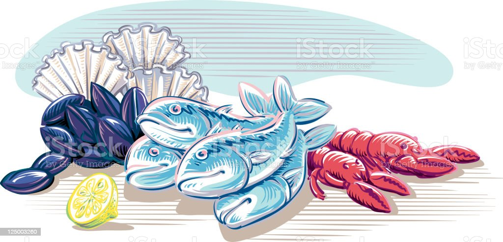 Fish royalty-free fish stock vector art & more images of blue