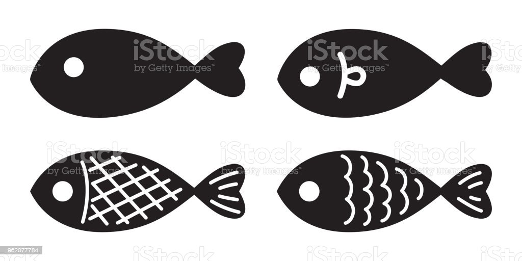 fish vector salmon logo icon illustration character graphic symbol cartoon vector art illustration