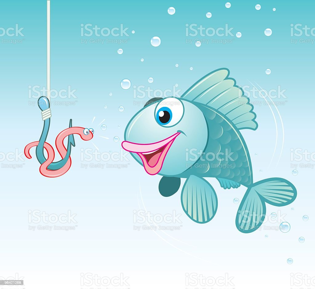Fish with a hook royalty-free stock vector art
