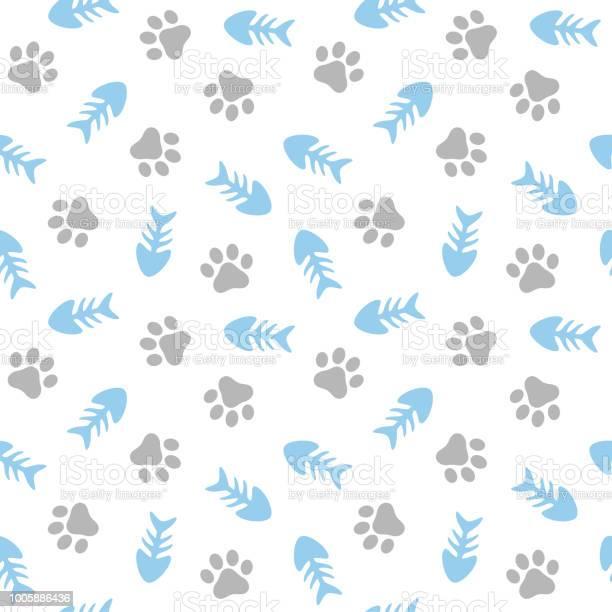 Fishbone and paw seamless pattern vector id1005886436?b=1&k=6&m=1005886436&s=612x612&h=bto0wnn5w2o5mo56kxnnleqtn3grldrvi6mnlowuusi=