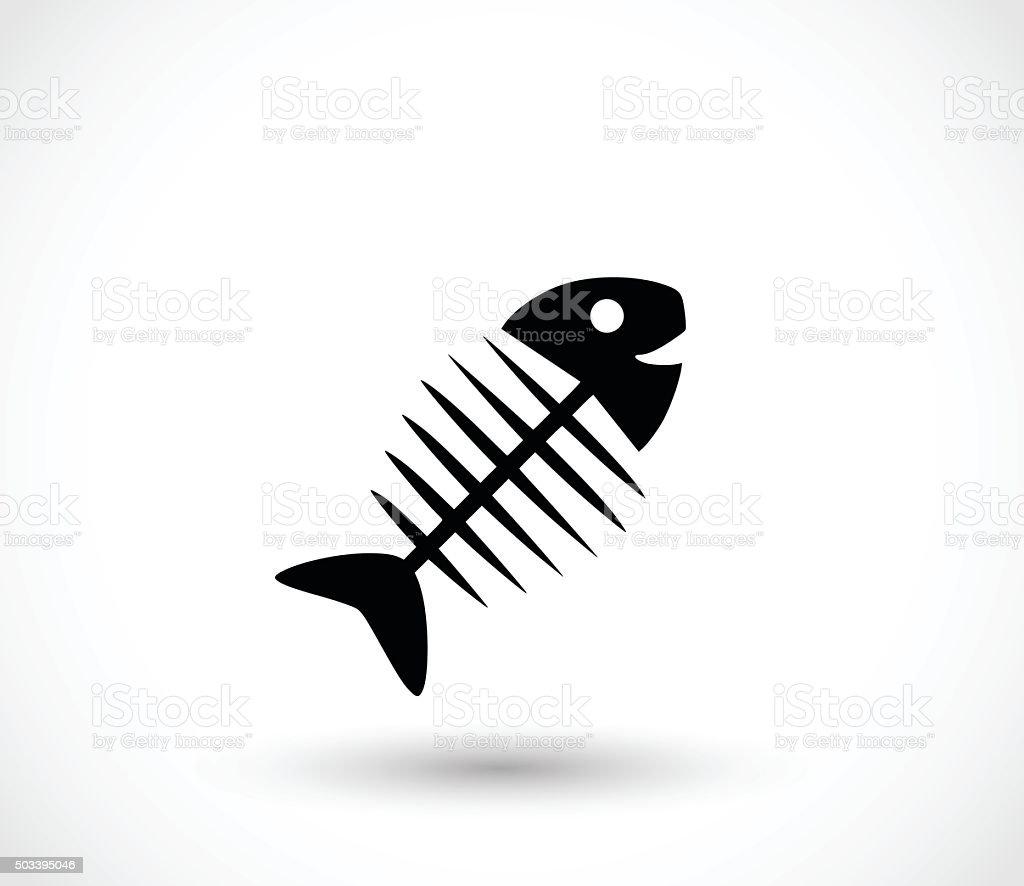 Fishbone icon vector illustration vector art illustration