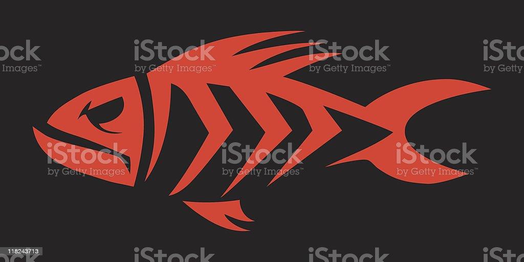 Fishbonz royalty-free stock vector art