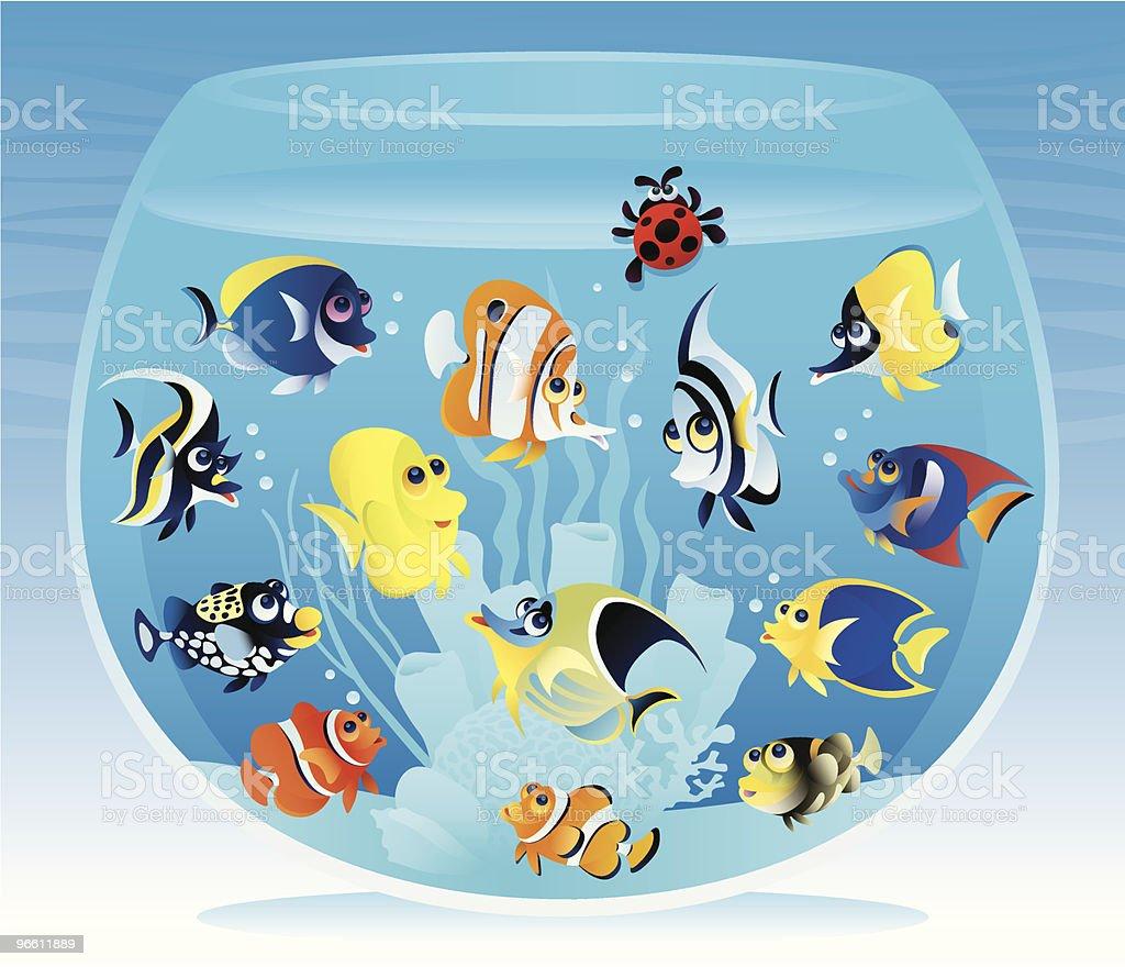 Fishbowl with fish - Royaltyfri Akvarium - Husdjurstillbehör vektorgrafik