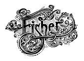 istock Fisher logo. Vector image. 1299165655