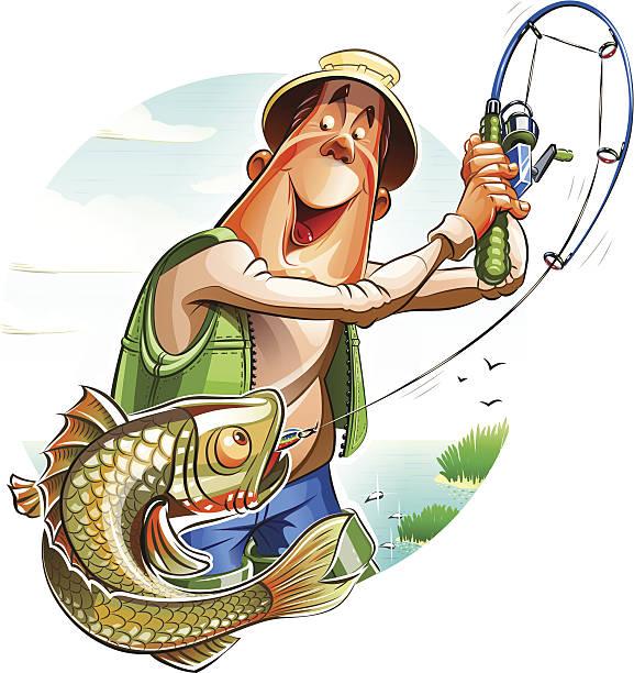 漁師と魚 - 漁師点のイラスト素材/クリップアート素材/マンガ素材/アイコン素材