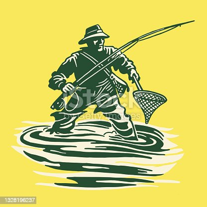 Fisherman in the Water