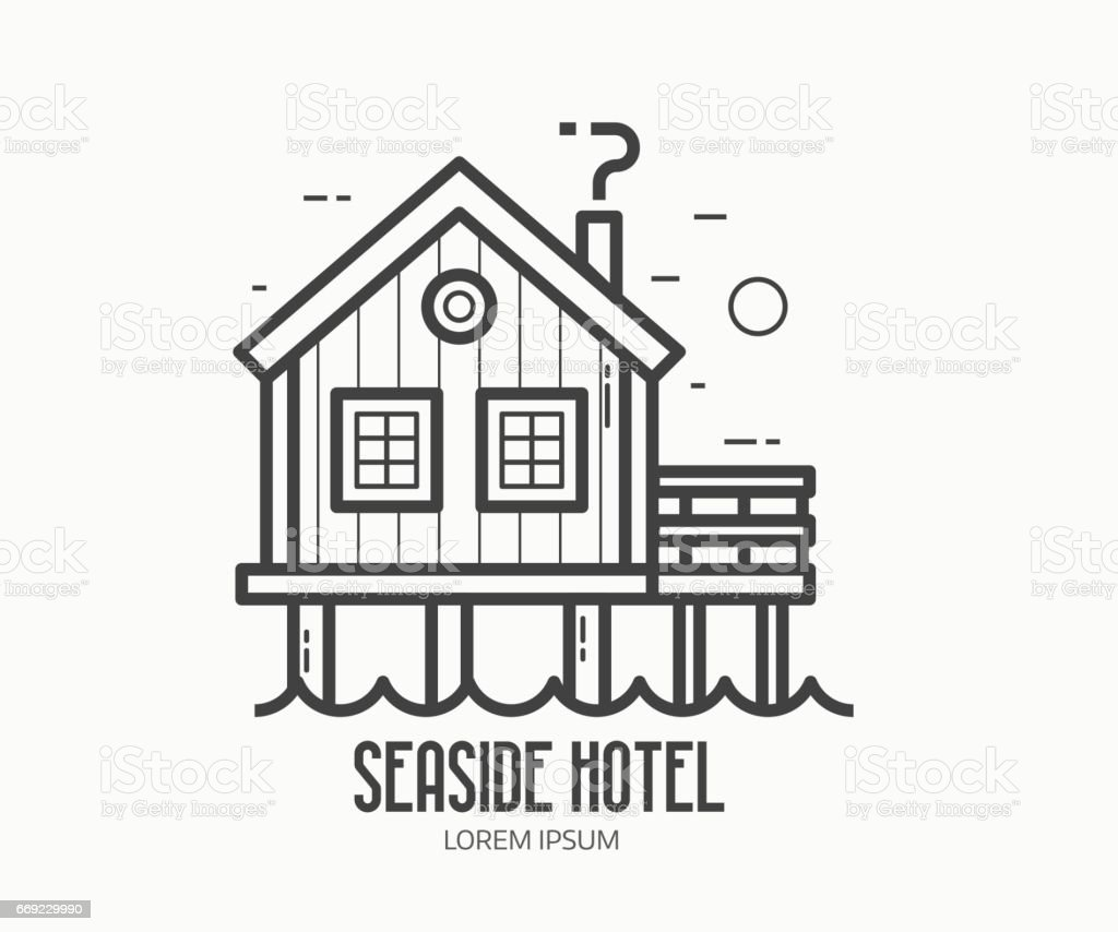 Beach Cottage Clip Art Vector Images Illustrations Istock