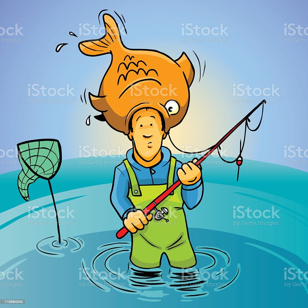 Fisherman royalty-free fisherman stock vector art & more images of adult